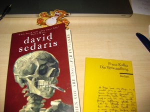 "David Sedaris ""When you are engulfed in flames"" und Franz Kafka's ""Die Verwandlung"""